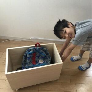 おもちゃ箱 木箱 収納野菜ボックス クロゼット内収納キャスター付き 取手付収納ボックス 木製 断捨離横30cm奥行50cm高さ30cm小物入れ かわいい押入 収納