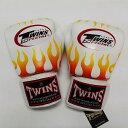 TWINS SPECIAL ボクシンググローブ 12oz F白 /ボクシング/ムエタイ/グローブ/キック/フィットネス/本革製/ツインズ