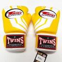TWINS SPECIAL ボクシンググローブ 10oz Fs黄白 /ボクシング/ムエタイ/グローブ/キック/フィットネス/本革製/ツインズ/大人用/オンス