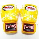 TWINS SPECIAL ボクシンググローブ 16oz トライバルYE /ボクシング/ムエタイ/グローブ/キック/フィットネス/本革製/ツ…