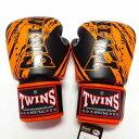 TWINS SPECIAL ボクシンググローブ 10oz TW黒オレンジ /ボクシング/ムエタイ/グローブ/キック/フィットネス/本革製/ツ…