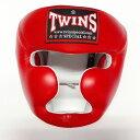 TWINS SPECIAL ヘッドギア 赤/本革製/ヘッドガード/ボクシンググローブ/ボクシング/ムエタイ/グローブ/キック/ツインズ/大人用