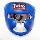 TWINS SPECIAL ヘッドギア 青/本革製/ヘッドガード/ボクシンググローブ/ボクシング/ムエタイ/グローブ/キック/ツインズ/大人用