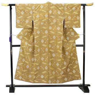 Home Ryukyu cloth with splashed pattern pongee used recycling pure silk fabrics pongee kimono certificate stamp beige HCS used reuse