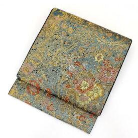 【中古】 袋帯 フォーマル 正絹 レディース リサイクル 礼装用 金×青×桃 長さ438cm 幅30.5cm
