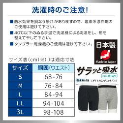 紳士日本製抗菌消臭エチケットロングニットパンツちょい漏れ滲み出し防止