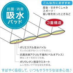 婦人日本製スピード吸収&消臭安心ショーツふんわりマイクロキルトノーマル丈タイプ2色組30cc対応