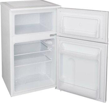 冷蔵庫冷凍庫料理調理一人暮らし独り暮らし1人暮らし家電食糧冷蔵保存保存食食糧白物単身れいぞうコンパクトキッチン台所寝室リビングノンフロン冷凍冷蔵庫2ドア81LホワイトAF81-Wアイリスオーヤマ