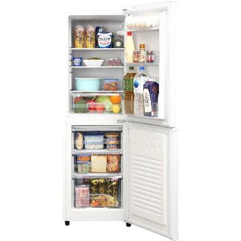 ノンフロン冷凍冷蔵庫2ドア162リットルホワイト冷蔵庫れいぞうこ冷凍庫れいとうこ料理調理家電食糧冷蔵保存食糧白物右開きみぎびらきノンフロン冷凍冷蔵庫162LホワイトAF162-Wアイリスオーヤマ