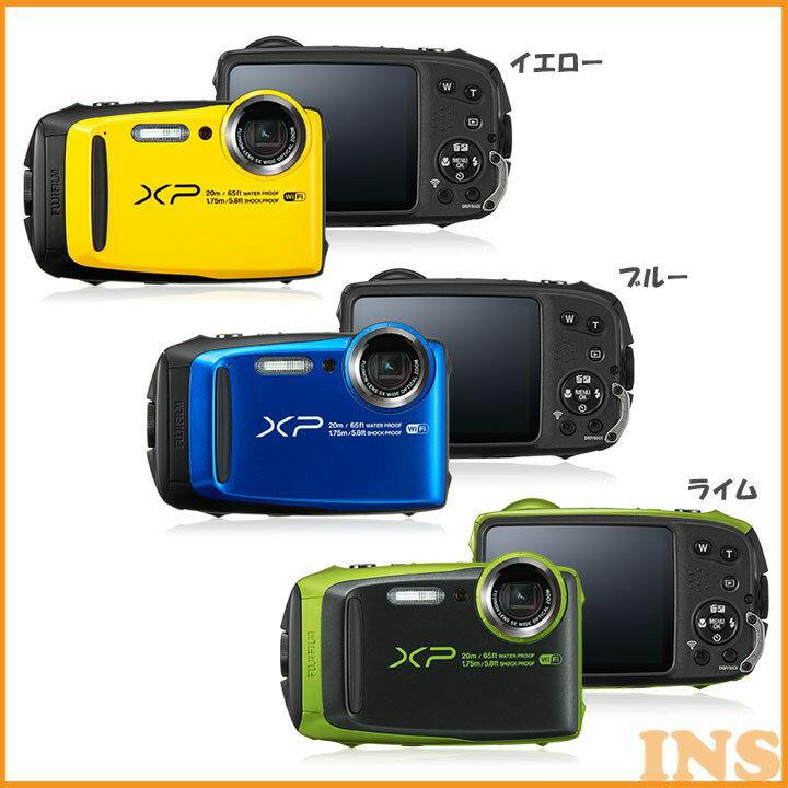 ≪送料無料≫防水カメラ XP120YW デジタルカメラ カメラ 写真 防水 フジフイルム イエロー・ブルー・ライム