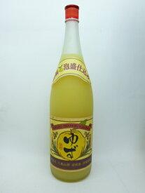 請福酒造所請福ゆずシークワサー 10度 1800ml(1升瓶)沖縄 石垣島産 泡盛仕込み 柚子酒
