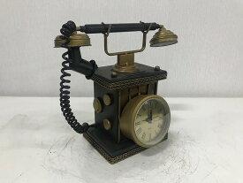 【お買い物マラソンで使える2,000円OFFクーポン】 ブリキのおもちゃ 時計 Telephone clock (metal) カラーはブラック(UL1)