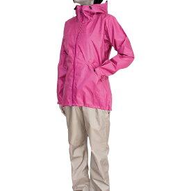 レインウェア シンプル アウトドア レディース 雨具 カジメイク レインスーツフェミニン2 ピンク M 7480 女性用 レインコート ウィンドブレーカー