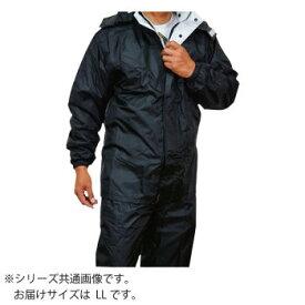 トオケミ レインウェア 7705 ニューバリューレインスーツ 着脱可能フード ブラック LL