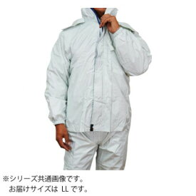 トオケミ レインウェア 7705 ニューバリューレインスーツ 着脱可能フード シルバ- LL