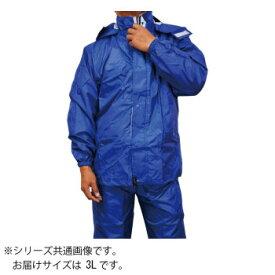 トオケミ レインウェア 7705 ニューバリューレインスーツ 着脱可能フード ネイビー 3L