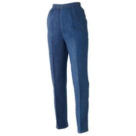 伸縮 レディース カジュアル ジーパン オシャレ センタープレス キレイめ 日本製 ズボン ゆるめ 岡山デニムのゆったりパンツLL らくちん 楽 伸びる