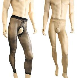 メンズパンスト 男性用ストッキング パンスト 女性用にも ユニセックスタイプ オープンクロッチ 穴あき メンズストッキング メンズランジェリー メンズタイツ