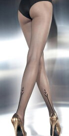 FIORE バックのチューリップ柄のタトゥーが素敵です!タトゥーストッキング/パンスト/20デニール(G5316-ANGELINA)