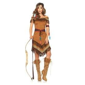 ハロウィン コスプレ 衣装 コスチューム インディアン (ネイティブアメリカン 民族衣装) 4点セット 仮装 大人 レディース(女性用) レッグアベニュー(legavenue 正規品) パーティー イベント用品 販促品 halloween 85398◆取寄せ