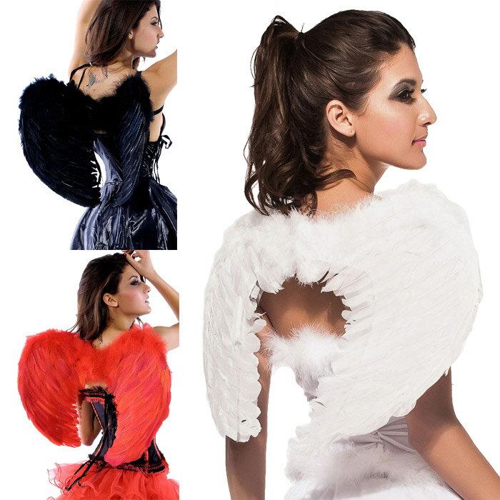 天使の羽 エンジェルウィング ハロウィン コスプレ 衣装 仮装 レディース 女性用 白 黒 赤の3色 送料無料 コスチューム 天使の羽根 大人 ダンス衣装 コスプレ衣装