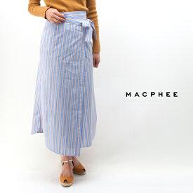 【SALE 40%OFF】TOMORROWLAND MACPHEE マカフィー レディース THOMAS MASON ラップミディスカート[12-05-81-05002HN]【2018SS】【返品交換不可】