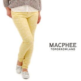 TOMORROWLAND MACPHEE マカフィー レディース カラーペイズリースキニーパンツ[12-04-31-04001-TN]【SS】(F-5)(S-5)