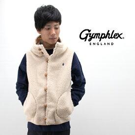 Gymphlex ジムフレックス メンズ くるみボタン BOAフードベスト ソリッド[J-1069PL]【BASIC】