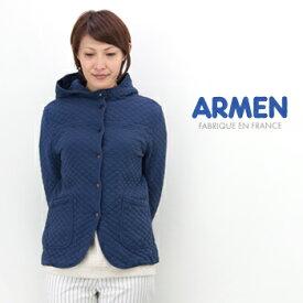 ARMEN アーメン レディース コットンキルトフードジャケット[NAM0555]【BASIC】