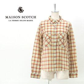【SALE 60%OFF】MAISON SCOTCH メゾンスコッチ レディース RETRO HOLIDAY シャツ[SL20738-41]【SS】【返品交換不可】
