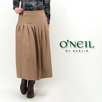 【BASIC】オネイル/オニールオブダブリン レディース プリーツキルトロングスカート[NOD0853]