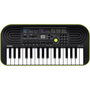 【4月下旬の発送】カシオ ミニキーボード SA-46 - 32鍵 電子キーボード キーボード 電子ピアノ ミニ鍵盤 コンパクト 小型 携帯 持ち運び カシオトーン