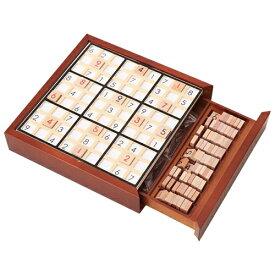 脳トレ 木製 ナンプレ - 問題シート付 数独 パズル クロスワード 推理ゲーム 卓上ゲーム 9ブロック 子供 教育玩具 知育玩具 おもちゃ 大人 ボードゲーム おうち時間 ギフト プレゼント WKS456