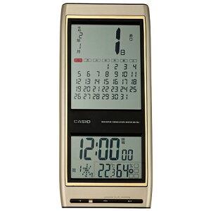 カシオ 電子日めくり 六曜 マンスリー 電波時計 - 日付 見やすい 掛け時計 温度計 湿度計 日めくり カレンダー 電波掛け時計 ウォールクロック 壁掛け IDC-700J-9JF ギフト プレゼント 新築 引越