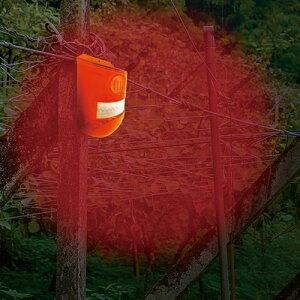 ソーラー式 防犯センサー アラーム (2個組) - 防犯 防犯ライト ソーラー 充電式 センサー 防止 対策 害獣 撃退 赤外線 人感センサー 鳥害 害獣駆除 サイレン ブザー 警報アラーム 屋外 畑 倉庫