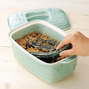 ぬか漬け鉢セット (ぬか床2袋付き) - ぬか床 スタートセット ぬか床キット 調整済み 簡単 カンタン 糠漬け 鉢 陶器 漬け物