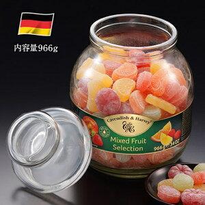 〈カベンディッシュ&ハーベイ〉ミックスフルーツキャンディージャー(966g)【お菓子 飴 レモン オレンジ ラズベリー アップル ストロベリー ドイツ製】