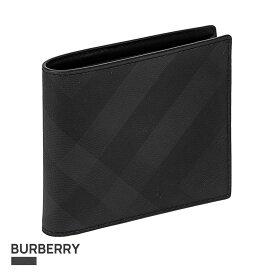 バーバリー BURBERRY 二つ折り財布 メンズ 財布 ダークチャコール 8014484