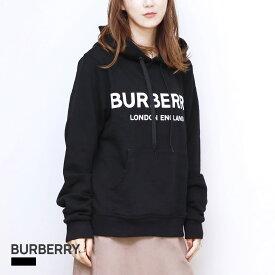 バーバリー BURBERRY POULTER_J13 パーカー レディース トップス フーディー ロゴプリント ブラック XS/S/M/L 80116521 ブランド カジュアル 黒 プルオーバー