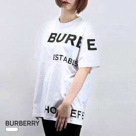 バーバリー BURBERRY Tシャツ レディース 半袖 トップス ロゴプリント コットン ホワイト XS/S/M/L 80171031 カジュアル 白 おしゃれ ブランド ギフト