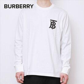 バーバリー BURBERRY Tシャツ メンズ ロンT トップス ロングTシャツ ロングスリーブ モノグラム ブラック 長袖 綿100% ブラック ホワイト XS / S / M / L 80245991 80246001