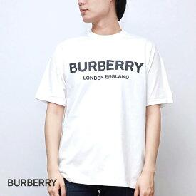 バーバリー BURBERRY LETCHFORD TAV メンズ ロゴプリント コットンTシャツ ホワイト/ブラック XXS,XS/S/M/L 80260171【返品交換無料】