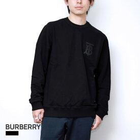 バーバリー BURBERRY メンズ トレーナー モノグラムモチーフ コットン スウェット ブラック XS/S/M/L 80318751【返品交換無料】