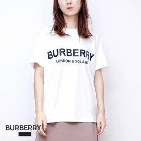 バーバリー BURBERRY Tシャツ レディース SHOTOVER_J1 半袖 トップス コットン ロゴプリント ブラック ホワイト XS/S/M/L 80088941 / 80116511 白 黒 カジュアル ブランド