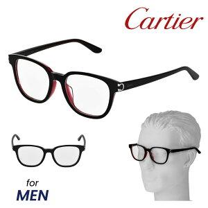 カルティエ Cartier メガネ 眼鏡 メンズ メガネフレーム 伊達メガネ ファッション アイウェア ブランド アイテム 小物 ブラック×レッド系 CT0006OA