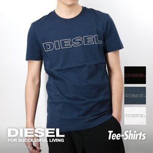 ディーゼル DIESEL Tシャツ UMLT JAKE メンズ 半袖 トップス ラウンドネック シャツ カジュアル ブランド おしゃれ 無地 綿 ブラック ネイビー ホワイト 白 黒 S/M/L/XL/XXL 大きいサイズ 00CG46-0DARX