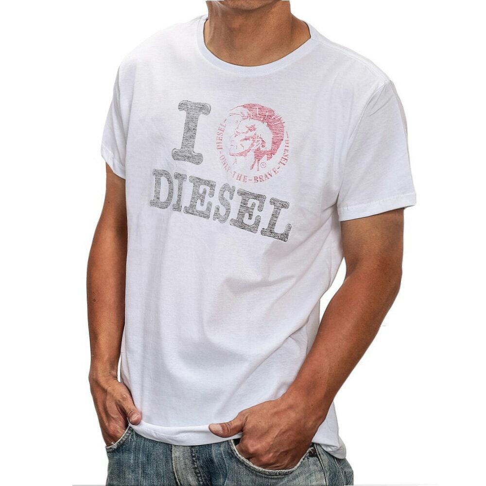 【業界最安値に挑戦】ディーゼル DIESEL T-I LOVE MAGLIETTA メンズ トップス Tシャツ - 【ブランド】 冬物 アウター インナー ティーシャツ シャツ カットソー カジュアル ストリート XS S M L XL Uネック 丸襟 丸首 半袖