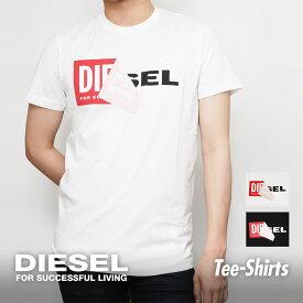 ディーゼル DIESEL T-DIEGO-QA MAGLIETTA メンズ Tシャツ トップス カットソー クルーネック ロゴ めくりT めくりロゴ ロゴTブランド ティーシャツ シャツ カジュアル