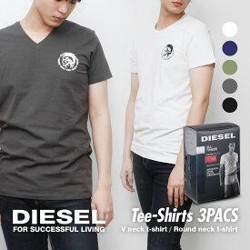 3枚セット ディーゼル DIESEL メンズ トップス Tシャツ 3PACS アンダーウェア【SALE】