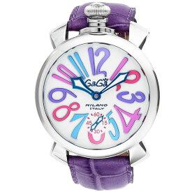 ガガミラノ GAGA MILANO MANUALE 48MM メンズ 時計 腕時計 スイス製 ガガ ミラノ 手巻き ホワイト 5010.09S-PUR